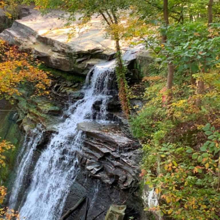 Hiking at Brandywine Falls Ohio