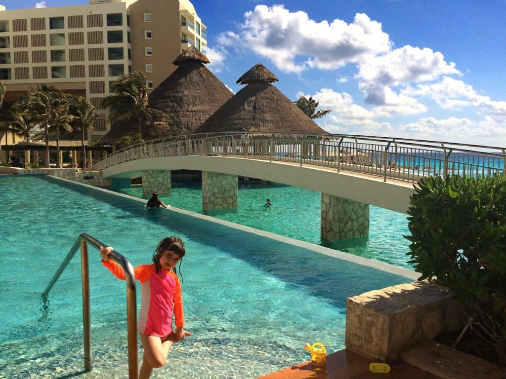 Main pool at the Westin Lagunamar Cancun