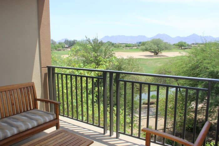 View from the balcony in a Westin Kierland Villa