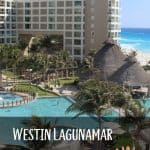 picture of the pool and hotel rooms of the Westin Lagunamar Cancun