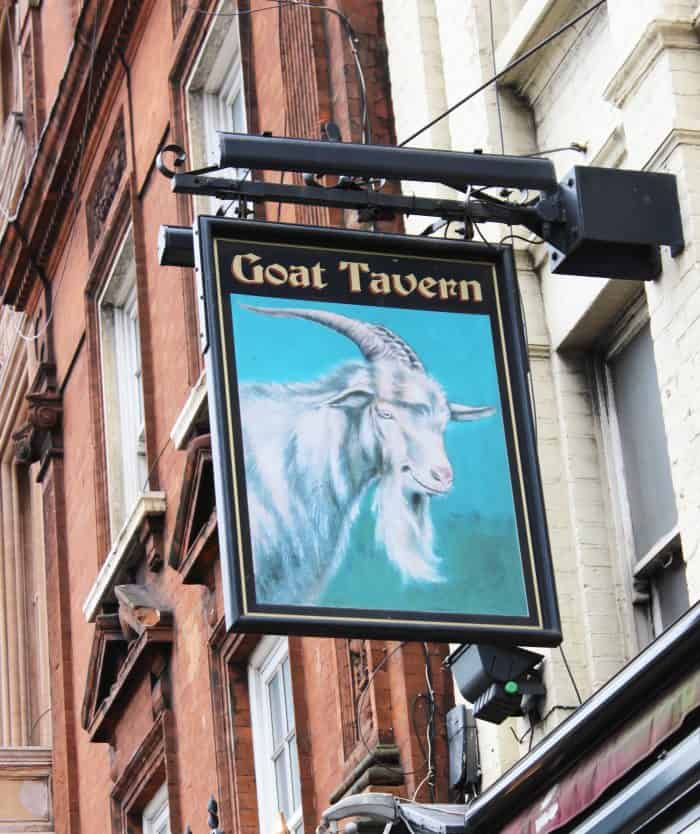 Fun place to take kids in London - The Goat Tavern