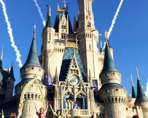 How to Stay for free at Disney with SPG - Disney Castle with Fireworks