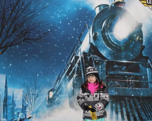 Polar Express Cleveland - Welcome sign