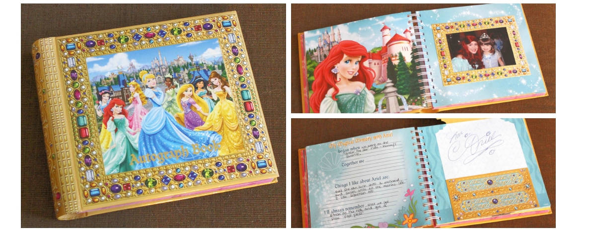 Disney packing list - autograph book