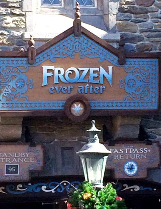 Entrance to the Frozen ride at Epcot within Walt Disney World.