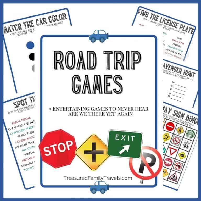 5 Free Road Trip Printable Games for Kids