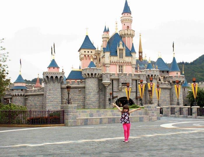 Hong Kong Disneyland Review - Sleeping Beauty castle
