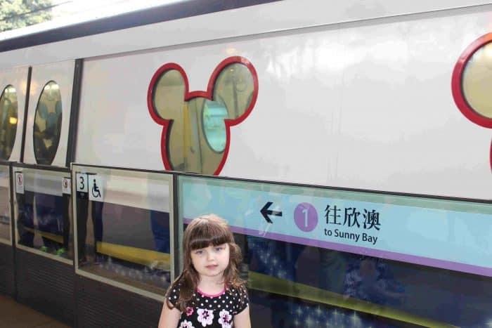 Hong Kong Disneyland Review - Sunny Bay line