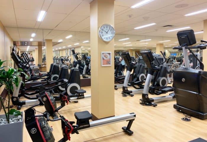 Exercise equipment in the Hyatt Regency Grand Cypress fitness center
