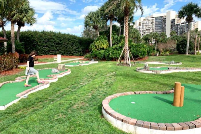 Miniature golf putt putt greens at the Hyatt Regency Grand Cypress
