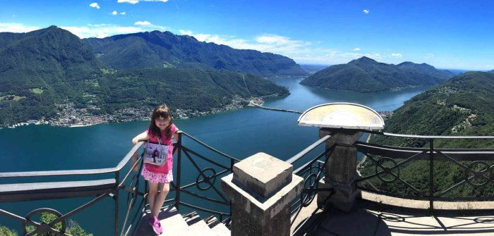 Milan with kids - View of Lugano from the top of San Sabastian
