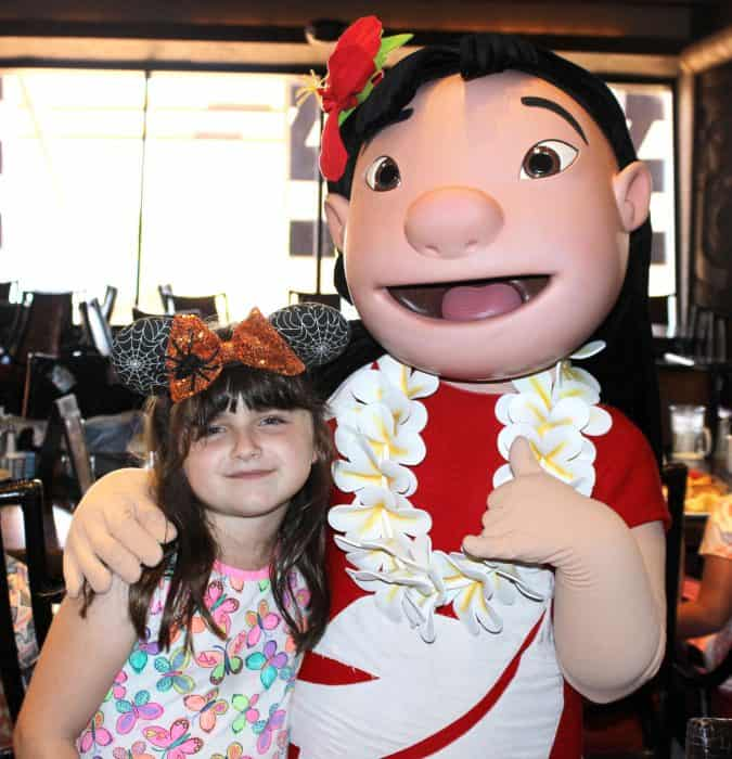 Ohana Character Breakfast picture with Lilo