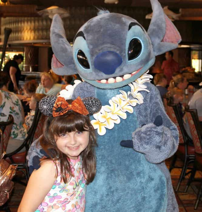 Ohana Character Breakfast picture with Stitch