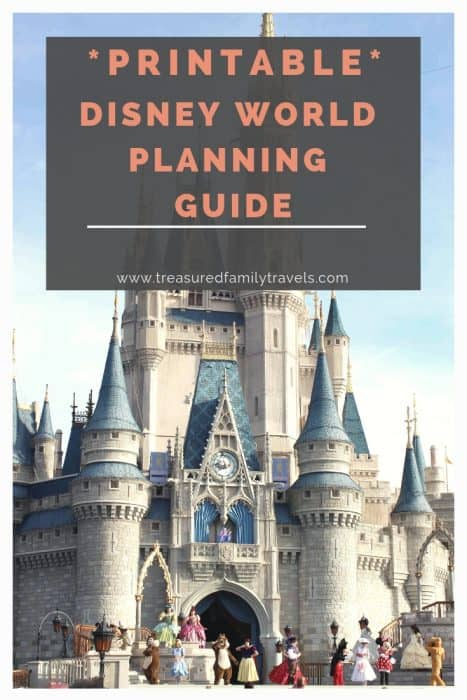 Printable download for for Disney World planning a vacation