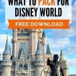 Fairy tale castle with bronze statues of Walt Disney and Mickey Mouse on the right