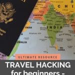 Words depicting guide to travel hacking