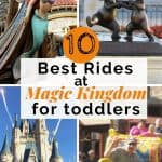 4 blocks of pictures from Magic Kingdom. Text overlay in center.