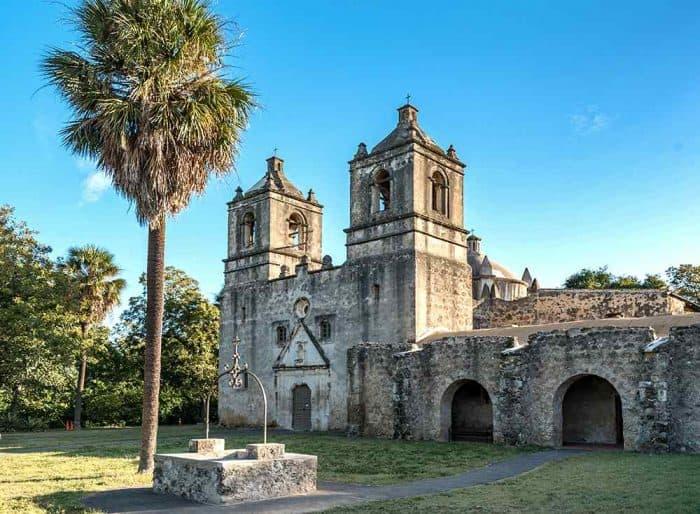 Old stone fort in San Antonio.